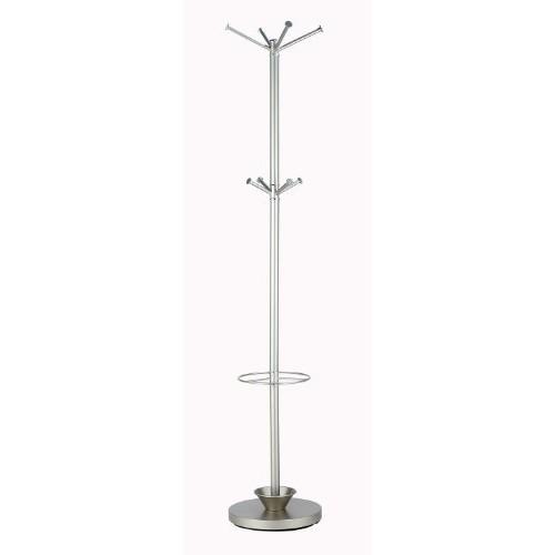 Adesso WK2048-22 Quatro Umbrella Stand /Coat Rack, Champagne Steel [Quatro Umbrella Stand, Champagne Steel]
