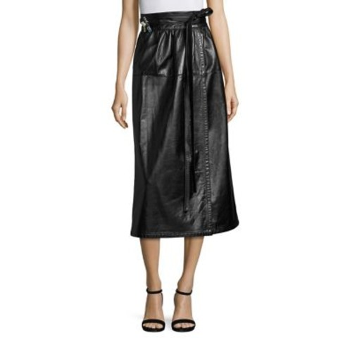 MARC JACOBS Leather Wrap Skirt