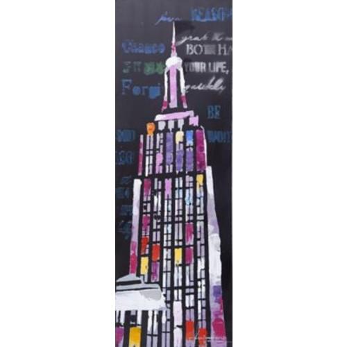 LaKasaLLC City Scenic Modern, Architecture Empire New York painting on Canvas