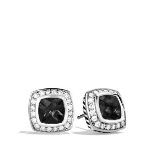 Petite Albion Earrings with Black Onyx & Diamonds