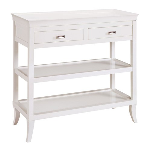 Titan Lighting Tamara White Storage Console Table