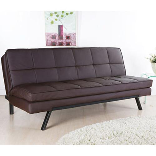 Abbyson Living Avalon Convertible Sofa - Dark Brown