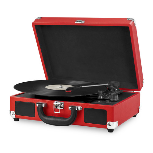 Victrola VSC-550BT-RED Portable Suitcase Record Player with Bluetooth and 3 Speed Turntable, Red