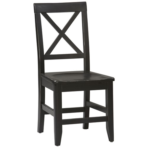 Linon Anna Collection Dining Chair, Antique Black, 17.75 inch Seat Height