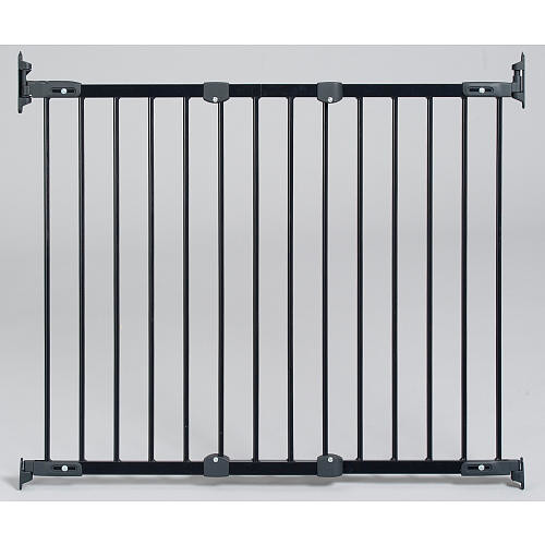 KidCo Angle Mount Safeway 28-42.5 inch Top of Stairs Safety Gate - Black