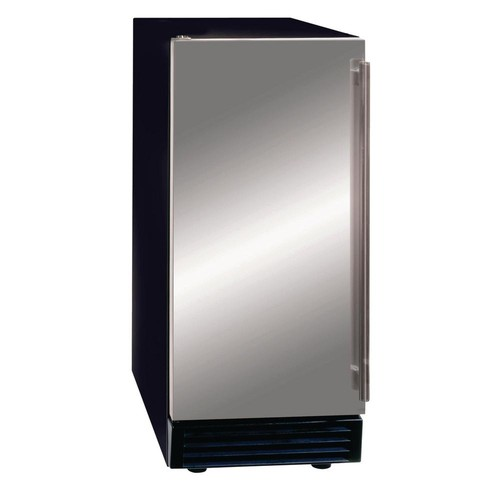 Maxx Ice 50 lb. Freestanding Icemaker with Drain Pump in Stainless Steel