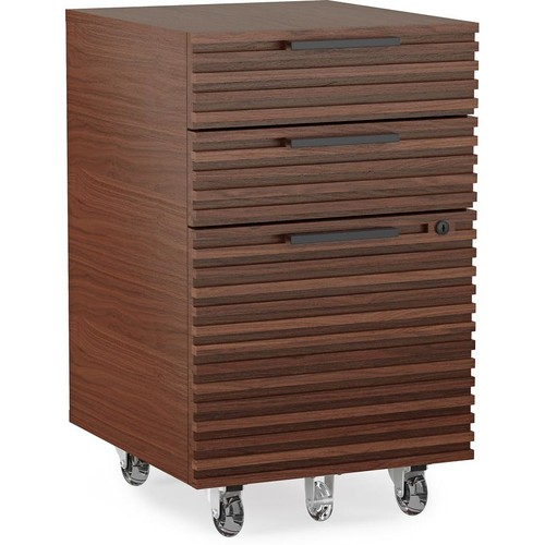 BDI Corridor 6507 (Chocolate Stained Walnut) Mobile file pedestal