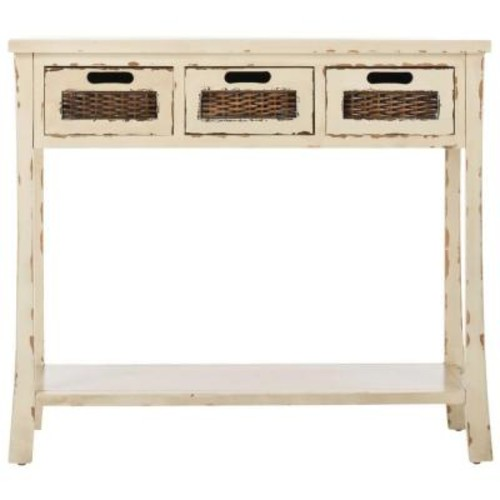 Safavieh Autumn White Storage Console Table