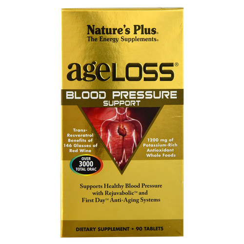 Nature's Plus AgeLoss Blood Pressure Support -- 90 Tablets