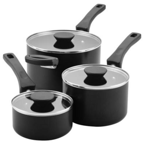 Farberware Neat Nest Nonstick Aluminum 6-Piece Covered Saucepan Set