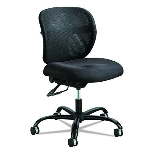 Safco Products 3397BL Vue Intensive Use Mesh Task Chair (Optional arms sold separately), Black