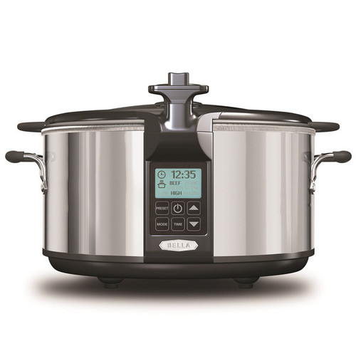 Bella 6.5-quart Programmable Slow Cooker with Locking Lid