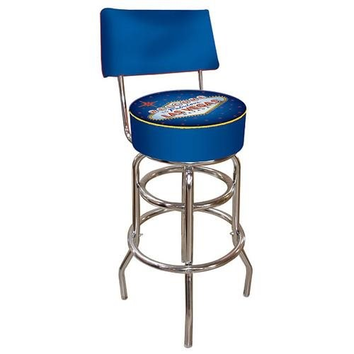 Trademark Global Fabulous Las Vegas Padded Bar Stool with Back