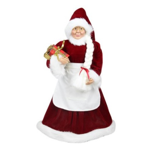 24-in. Standing Mrs. Claus Christmas Decor