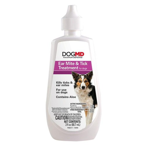 Dog MD Maximum Defense Ear Mite & Tick Treatment