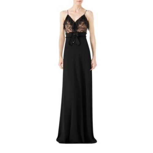 GUCCI Viscose Jersey & Lace Gown