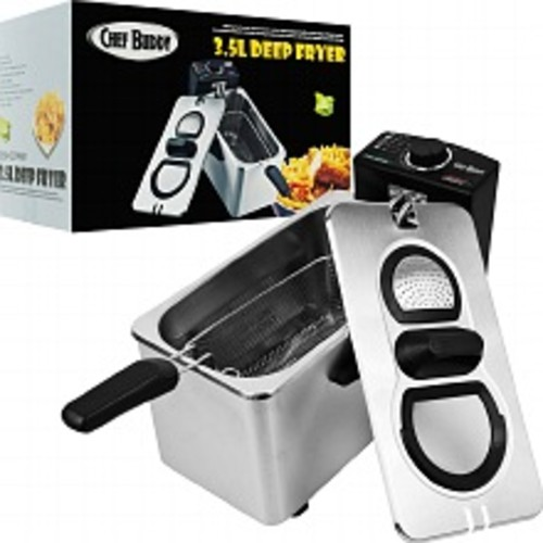 Chef Buddy Electric Deep Fryer Stainless Steel 3.5 Liter