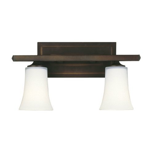 Murray Feiss VS8702-ORB Boulevard Vanity Fixture, 2 Light, 200 Watts, Oil Rubbed Bronze [Oil-Rubbed Bronze, 2-Light]