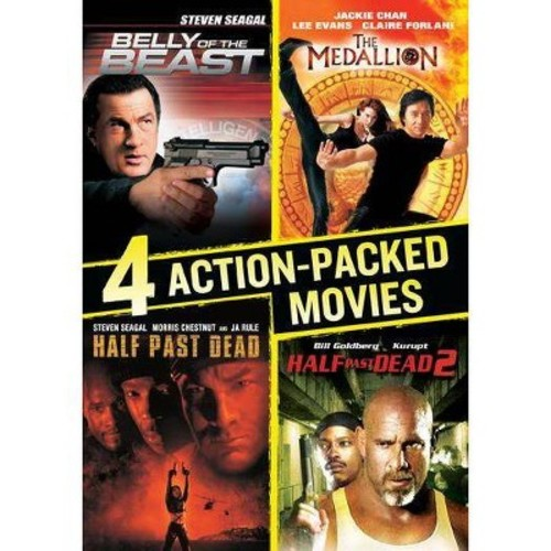 4 Action-Packed Movies Collection: (Belly of the Beast / Half Past Dead / Half Past Dead 2 / The Medallion)
