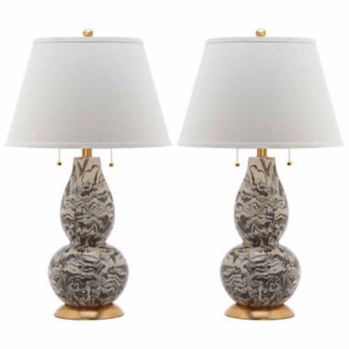 Safavieh Color Swirls Glass Table Lamp
