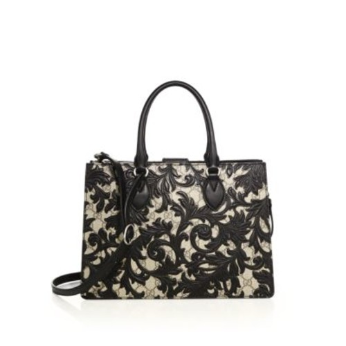 GUCCI Arabesque Small Canvas Top-Handle Bag
