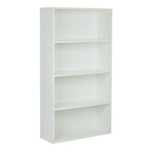 Pro-Line II Prado White Adjustable Open Bookcase