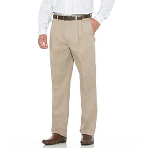 Savane Men's Straight-Fit Pleated Performance Chino Pants