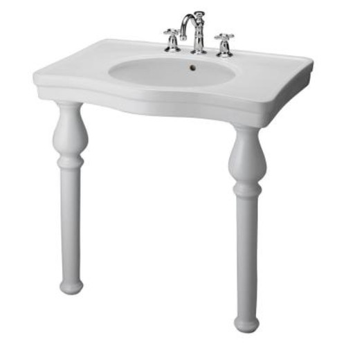 Barclay Products Milano Deluxe Console Table in White