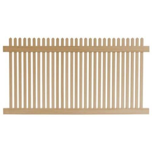 Veranda 4 ft. H x 8 ft. W Cedar Grove Natural Cedar Vinyl Picket Fence Panel