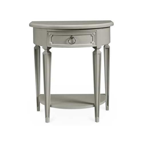 Fluted Single Drawer Nightstand, Gray