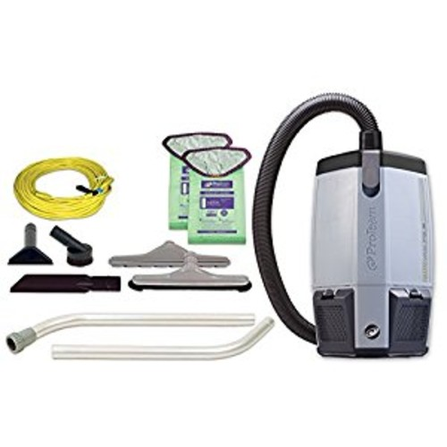 ProTeam Backpack Vacuums, ProVac FS 6 Commercial Backpack Vacuum with HEPA Media Filtration and Restaurant Tool Kit, 6 Quart, Corded [6 Quart Backpack, Restaurant Tool Kit(2pc Wand)]