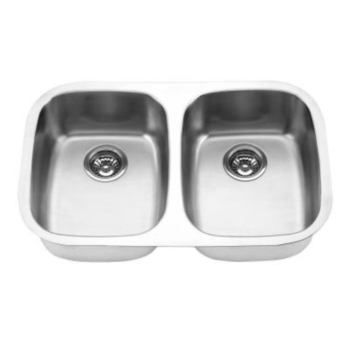 Yosemite Home Decor Undermount Stainless Steel 29 in. Double Bowl Kitchen Sink in Satin