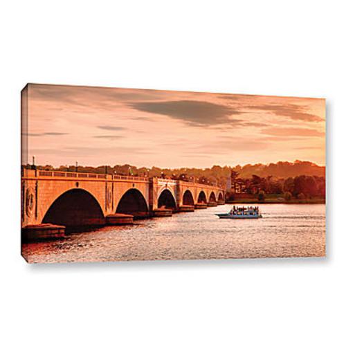 Brushstone River Cruise at Sunset Gallery WrappedCanvas Wall Art