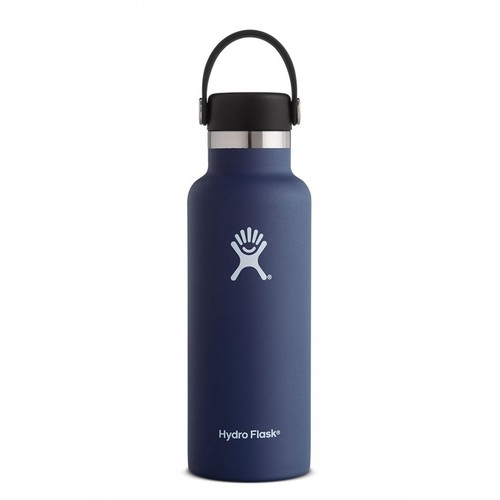 Hydro Flask - Stainless Steel Water Bottle Vacuum Insulated Standard Mouth with Flex Cap Cobalt - 18 oz.