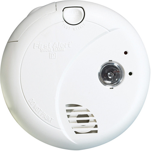 First Alert Hard-Wired with Battery Back-up Photoelectric Smoke Alarm with Escape Light(7020B)