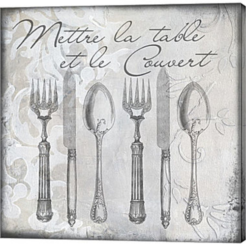 Metaverse Art Vintage Cutlery III Gallery WrappedCanvas Wall Art