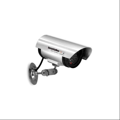 2-PACK SECURITY MAN INDOOR FAKE DUMMY BULLET CAMERA w/ LED LIGHT FOR HOME/OFFICE