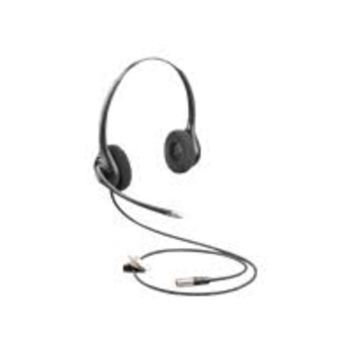 Plantronics HW261N-DC Headset - Stereo - Quick Disconnect - Wired - Over-the-head - Binaural - Supra-aural - 2.50 ft Cable - Electret Microphone - Noise Canceling