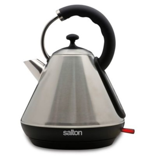 Salton Pyramid 1.8-Liter Cordless Electric Stainless Steel Kettle