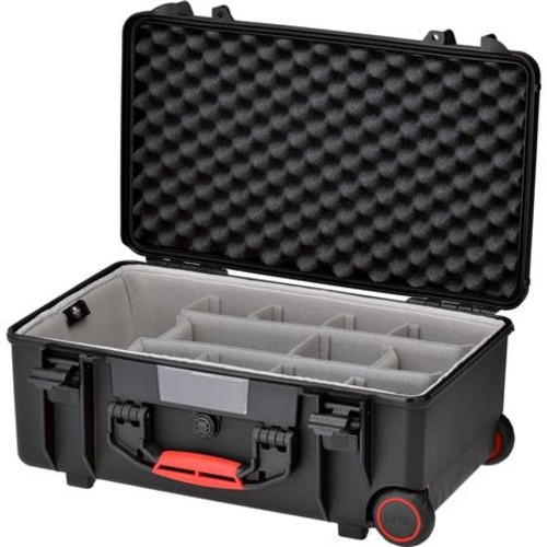 HPRC 2550 Water-Resistant Hard Case with Second Skin and Built-In Wheels, Black