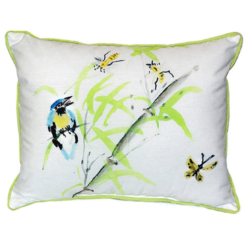 Betsy Drake 'Birds and Bees II' 16-inch x 20-inch Indoor/Outdoor Throw Pillow