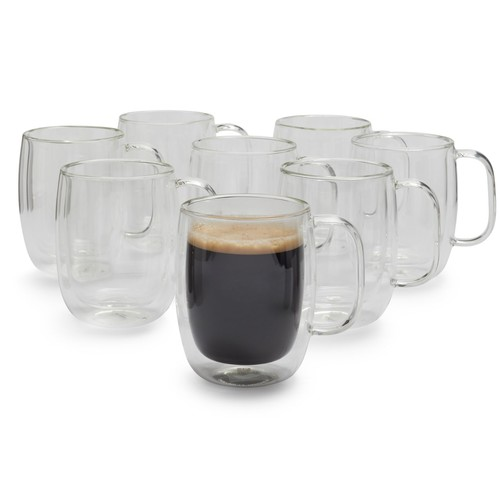 Zwilling J.A. Henckels Sorrento Plus Double-Wall Coffee Glasses, 12 oz.