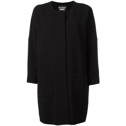 BOUTIQUE MOSCHINO Three-Quarters Sleeve Boxy Coat