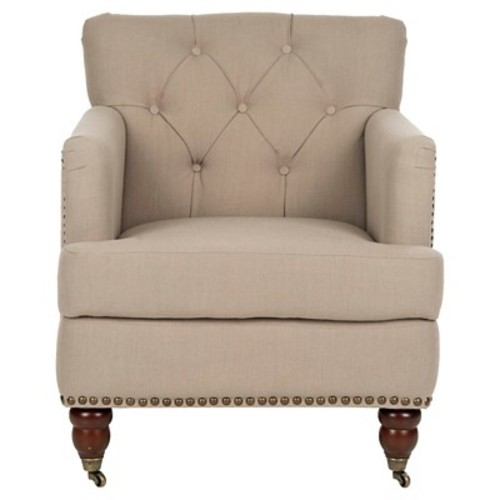 Colin Tufted Club Chair True Taupe - Safavieh