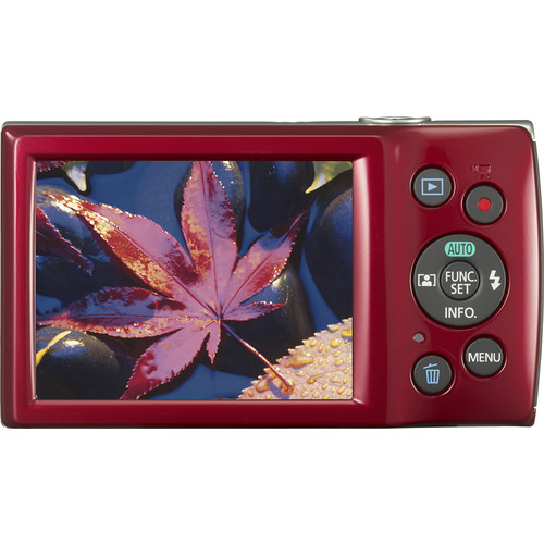 Canon 20 Megapixels PowerShot ELPH 180 Camera - Red
