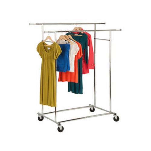 Honey-Can-Do Dual Collapsible Garment Rack - Chrome