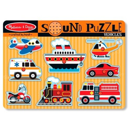 Melissa & Doug Vehicles Sound Puzzle - 8pc