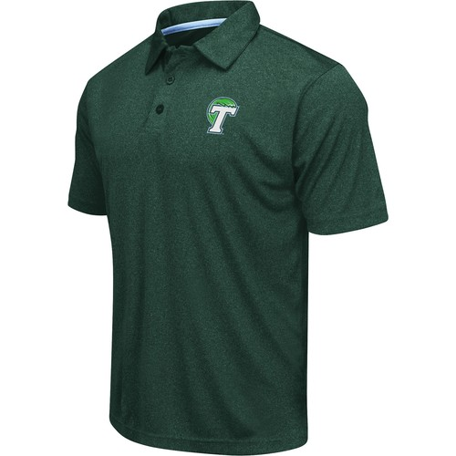 Colosseum Men's Tulane Green Wave Green Heathered Performance Polo