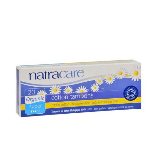 Natracare Organic 100% Cotton Tampons Super