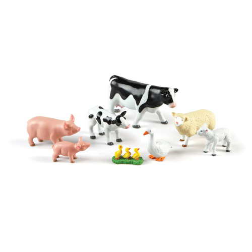 Learning Resources Jumbo Farm Animals Mommas and Babies Play Set